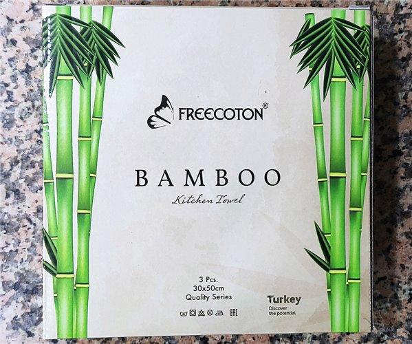 30x50 см 3 шт/уп Махровыe Полотенца с Вышивкой Bamboo Freecoton - ByTem
