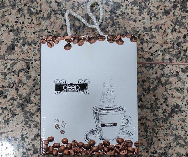 30x50 см 2 шт/уп. Махровые Полотенца с Вышивкой  Coffee Deep - ByTem