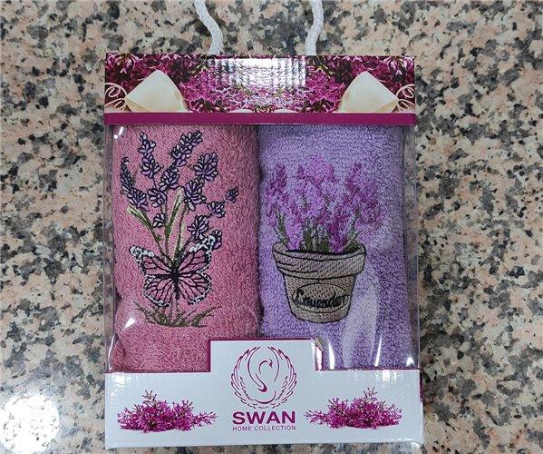 30x50 см 2 шт/уп. Махровые Полотенца с Вышивкой  Home Collection Swan - ByTem