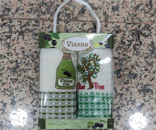 35x50 см 2 шт/уп. Вафельные Кухонные Полотенца Салфетки Olive Oil Vianna - ByTem