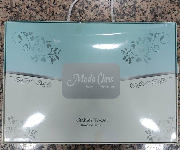 40x60 см 4 шт/уп Вафельныe+Махровыe Полотенца с Вышивкой Moda Class - ByTem