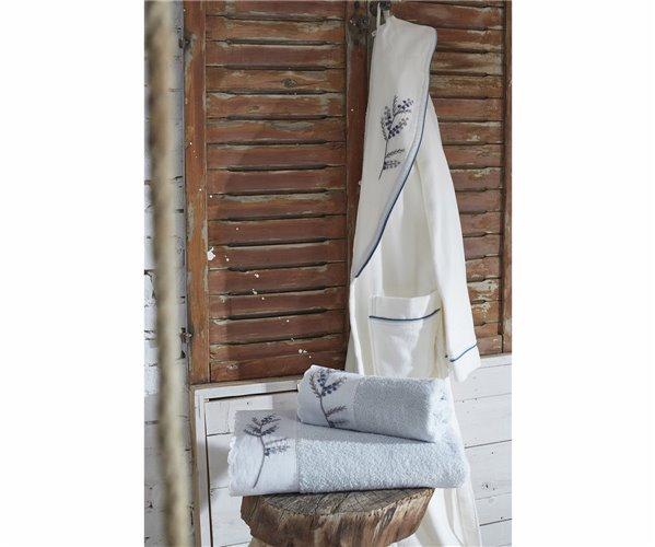 Подарочный Набор Халат (XL) + Полотенце + Тапочки Derin-Krem Bayan Bornoz Seti - XLarge- EcoCotton