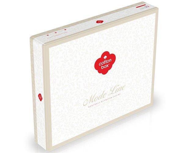 1 сп. Комплект Постельного Белья Ранфорс MODE LINE Elisa Bej cotton box