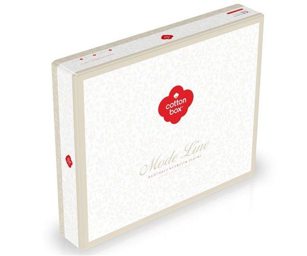 2 сп. Евро Комплект Постельного Белья Ранфорс MODE LINE Iris Pembe cotton box
