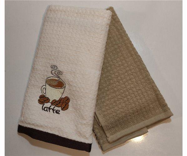 Махровые Кухонные Полотенца с Вышивкой 40x70 см 2 шт/уп - Özler Home