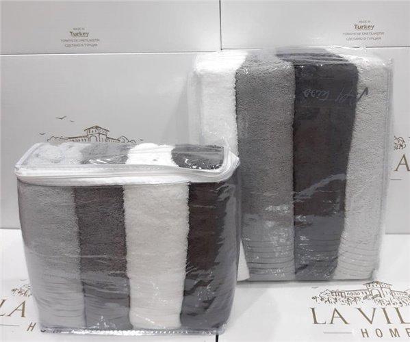 Набор Махровых Полотенец 70x140 4 шт/уп + 50x90 см 4 шт/уп Lavilla Micro Havlu Serisi
