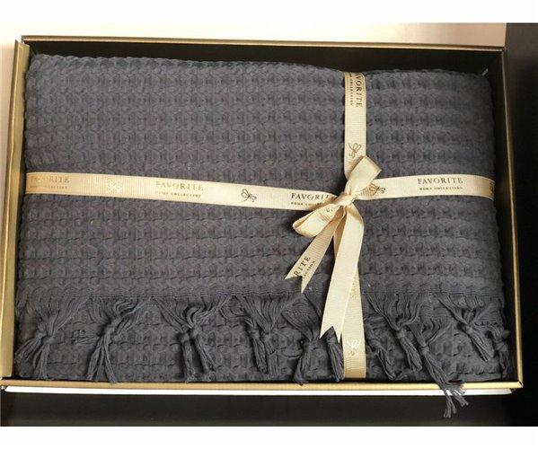 Покрывало Вафельное 220x240 см с Бахромой Хлопок 100% Favorite Home Collection