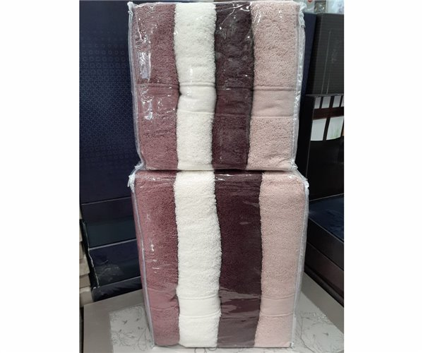 Набор Махровых Полотенец 70x140 4 шт/уп + 50x90 см 4 шт/уп Soft Kiss Micro Havlu Serisi