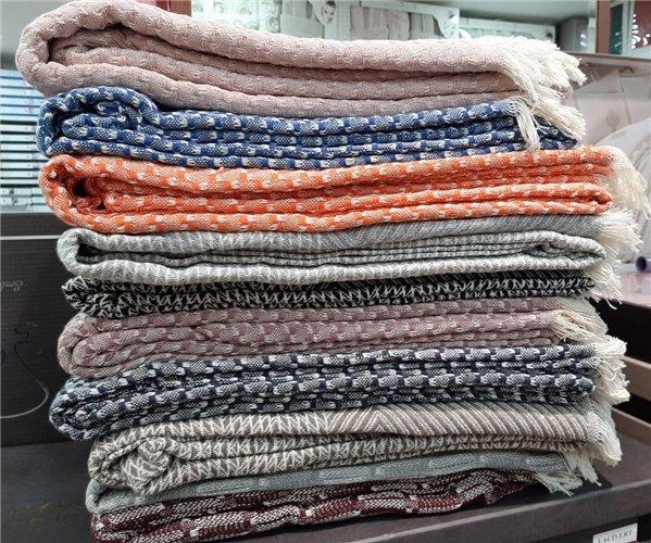 Накидка для дивана или Покрывало 170x230 см с Бахромой Хлопок 100% Koltuk örtüsü veya tek kişilik pike (cotton)