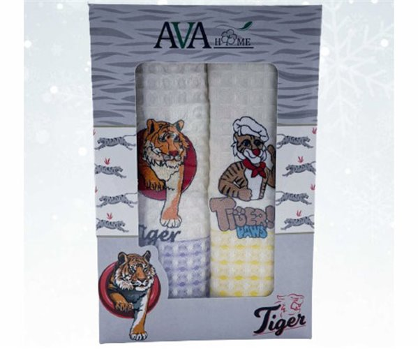 Вафельные Полотенца с Вышивкой 40x60 см 2 шт/уп Ava Home - ByTem