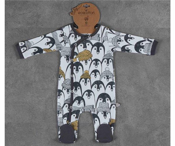 Комбинезон 0-3 месяцев для Младенцев Pingu 0-3 Ay Tulum - EcoCotton