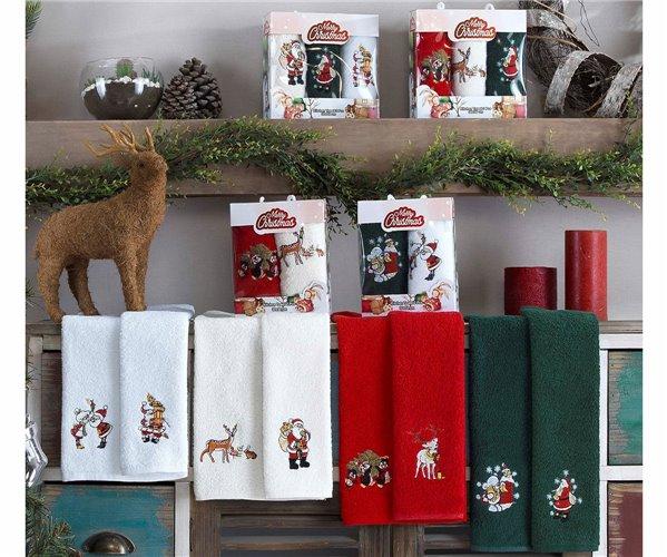 30x50 см 2 шт/уп. Махровый Набор Полотенец Ассорти Merry Christmas
