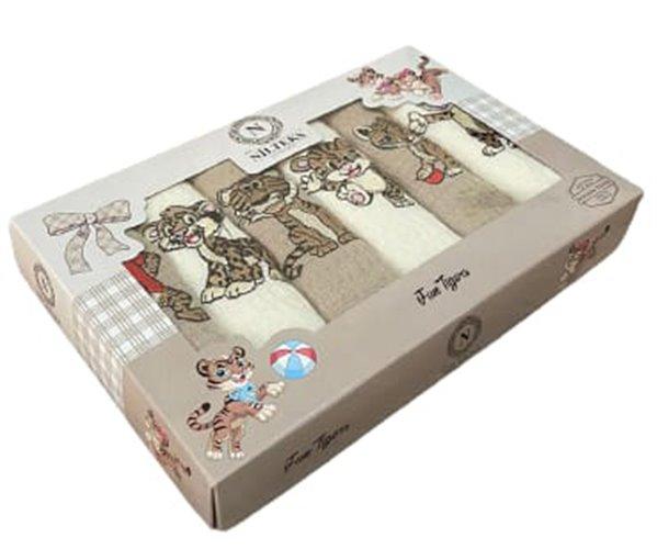 Полотенца вафельные с вышивкой 40x60 см 3 шт/уп 3 PCS LUX CHİRTSMAS TİGER - Nilteks