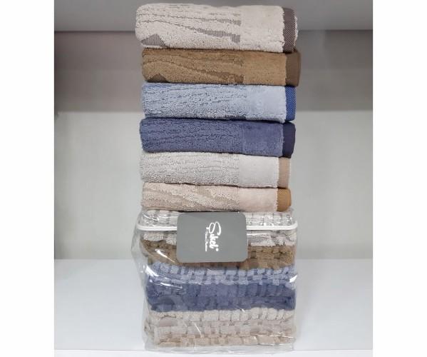Набор Махровых Полотенец 50x90 см 6 шт/уп + 70x140 см 6 шт/уп Cotton - Sikel