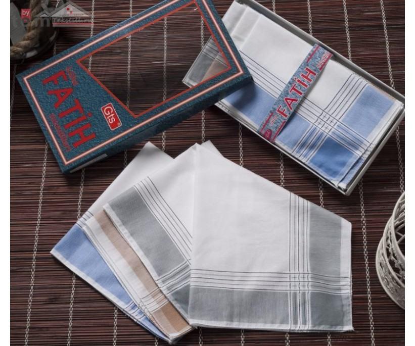 Мужские носовые платки 12 шт./уп. 40x40 см. Fatih - Gozde