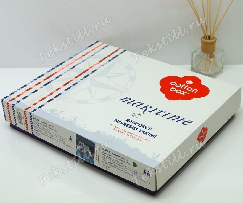 Комплект Постельного Белья Евро 2 сп. Ранфорс Maritime Marina- cotton box