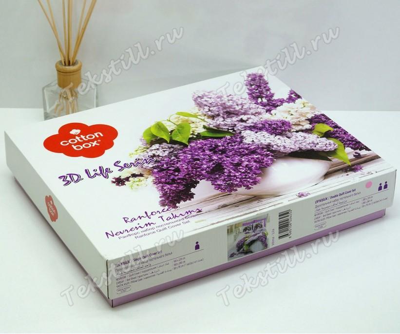 Комплект Постельного Белья Евро 2 сп. Ранфорс 3D Life Ranforce Vilma Lila - cotton box