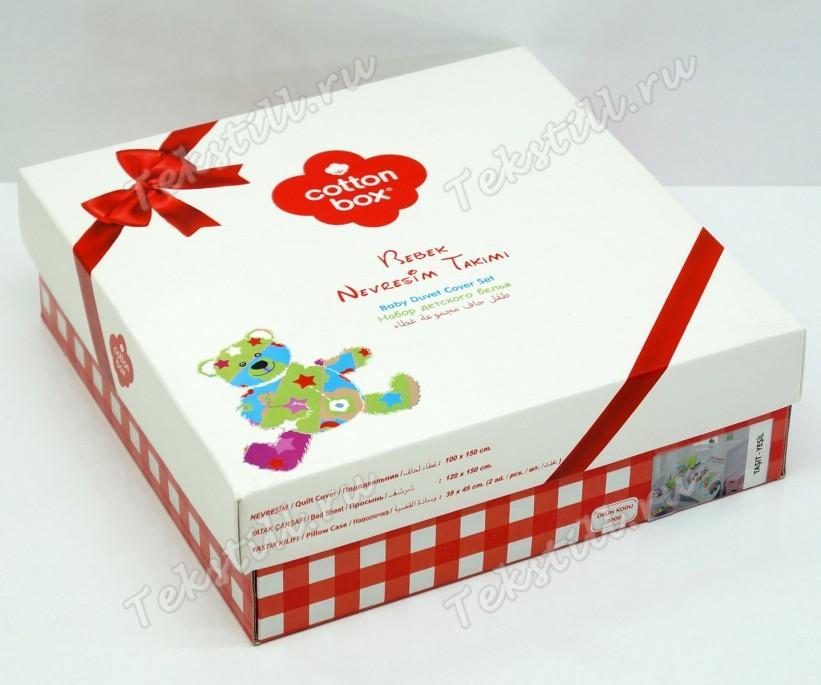 Постельное белье из ранфорса для новорожденных Bebek Ranforce Mutlu Bebek - cotton box