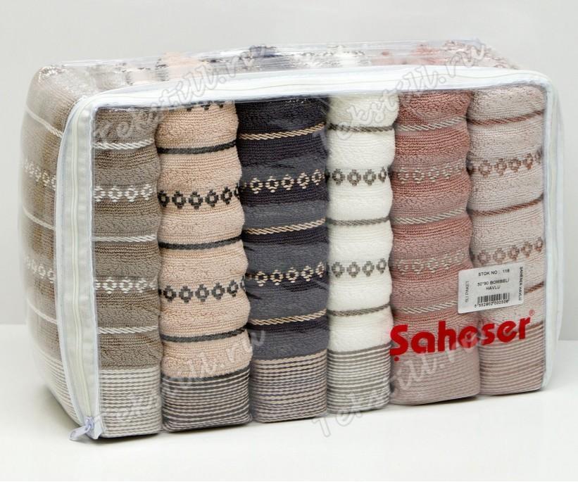 Махровые Лицевые Полотенца 50x90 см. 6 шт/уп. BOMBELI - Saheser