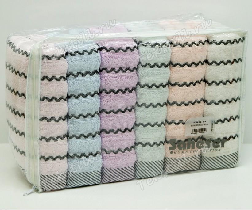 Махровые Банные Полотенца 70x140 см. 6 шт/уп. BOMBELI - Saheser