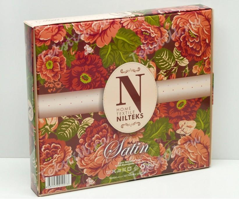 Набор Вафельных Полотенец Сатин 50x70 см. 6 шт / уп. Premium - Nilteks