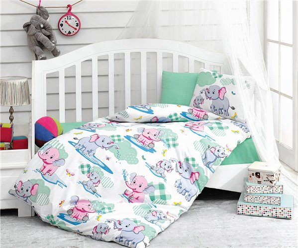 Постельное белье из ранфорса для новорожденных Bebek Ranforce Midilli - cotton box