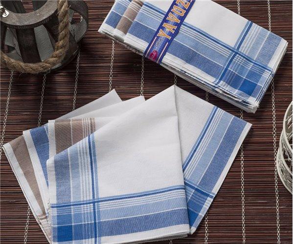 Носовые Платки Мужские 12 шт./уп. 39x39 см. YAVUZ - Gozde