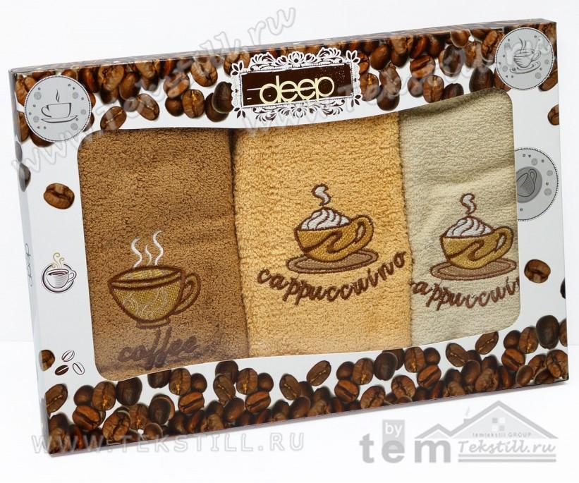 Махровые Полотенца с Вышивкой 30x50 см. 3 шт./уп. Deep Cafe - DNZ