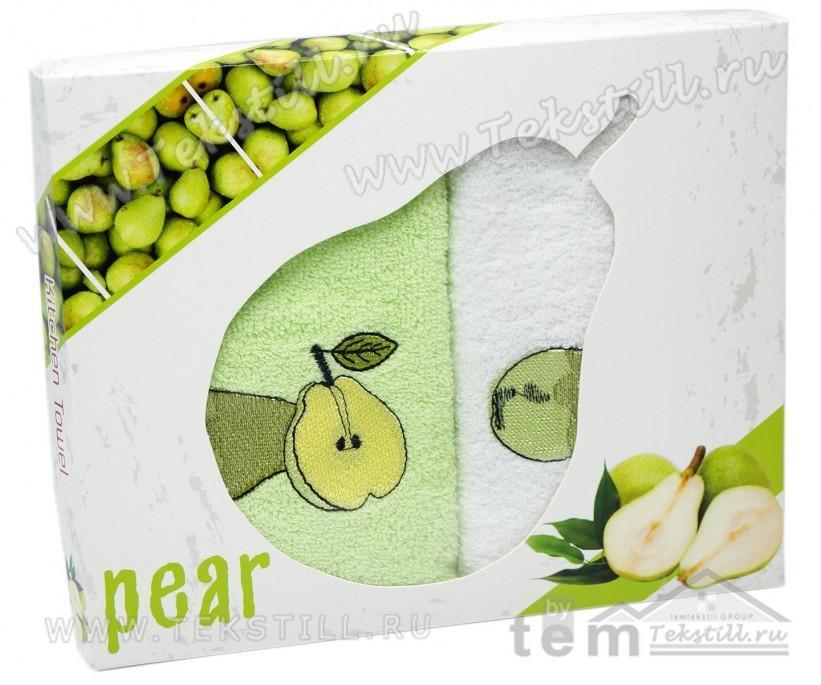Махровые Полотенца с Вышивкой 30x50 см. 2 шт./уп. Pear - DNZ