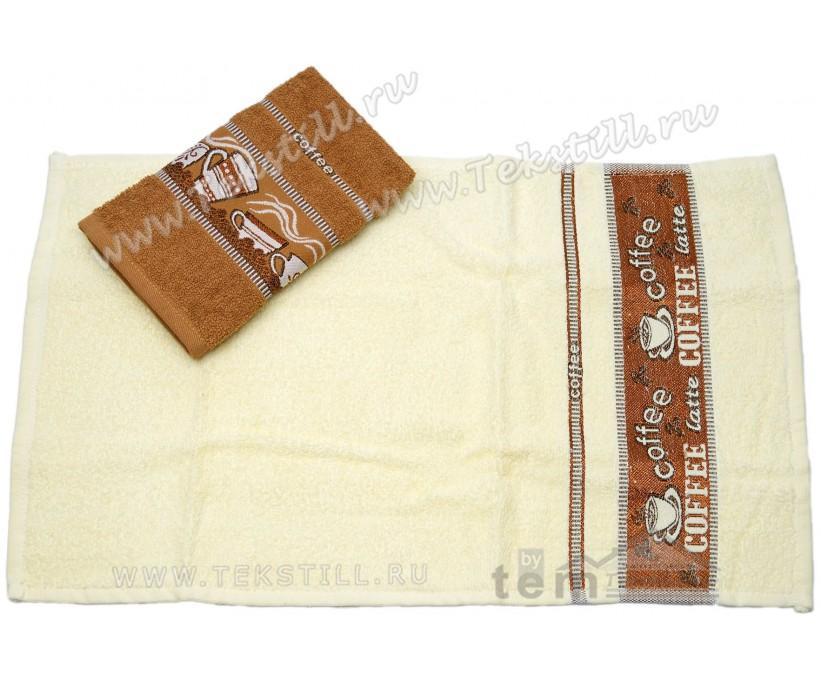 Махровые Полотенца с Вышивкой 30x50 см. 2 шт./уп. Coffee - DNZ