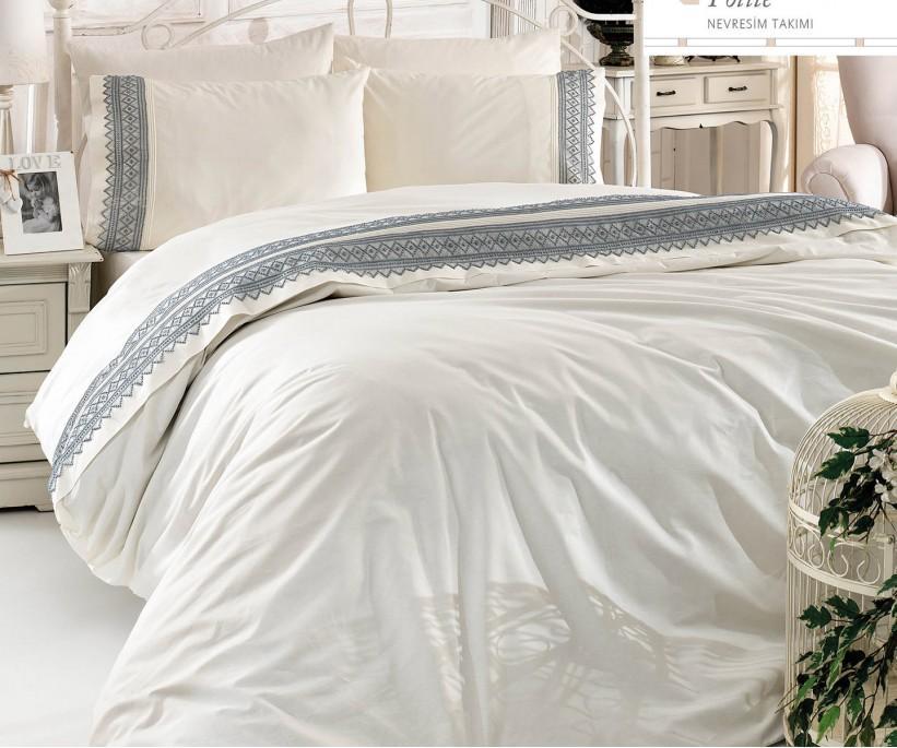 Комплект Постельного Белья с Вышивками  - Royal Nazik