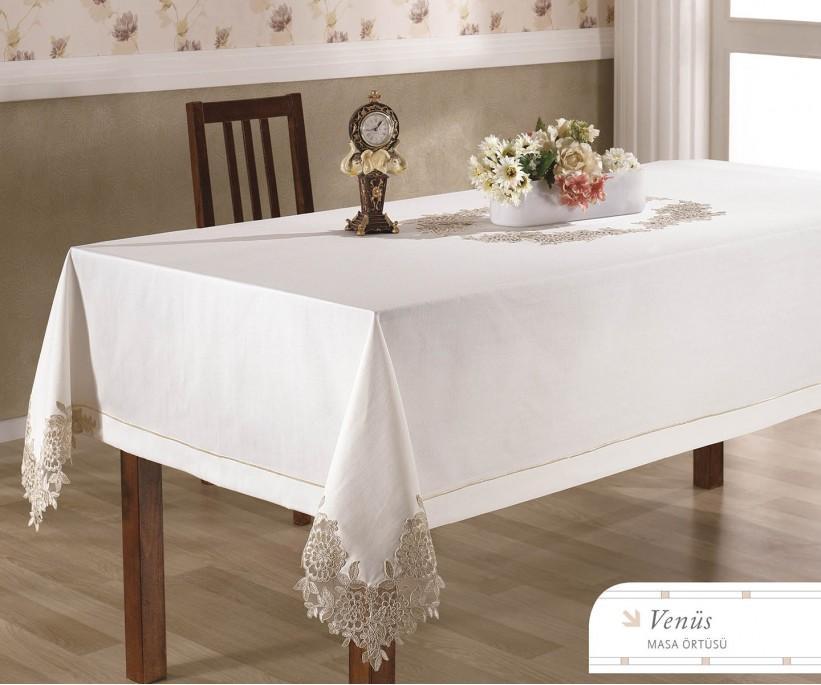 Скатерть с Декоративной Вышивкой 150x250 см Venus - Royal Nazik