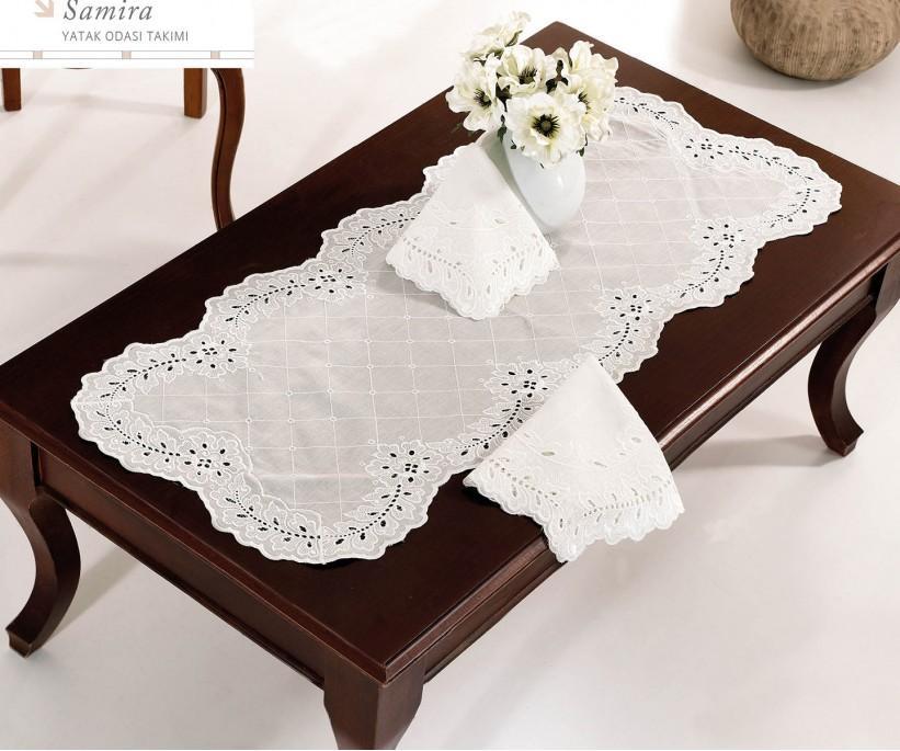 Набор Скатертей (5 предметов) с Декоративной Вышивкой Frezya - Royal Nazik