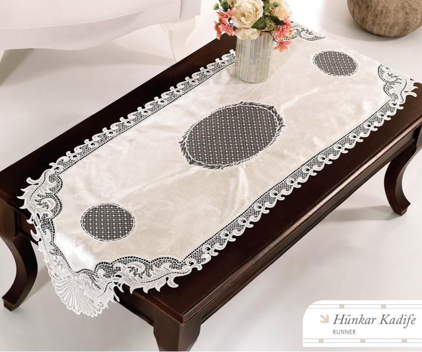 Раннер 45x140 см с Декоративной Вышивкой Hunkar Kadife - Royal Nazik