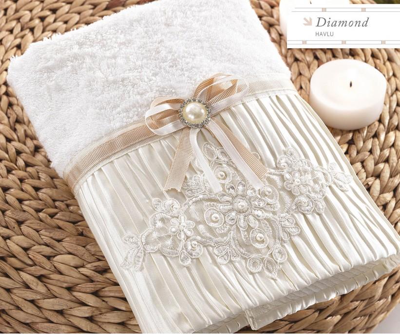 Махровые Полотенца с Вышивкой 50x90 см Diamond - Royal Nazik