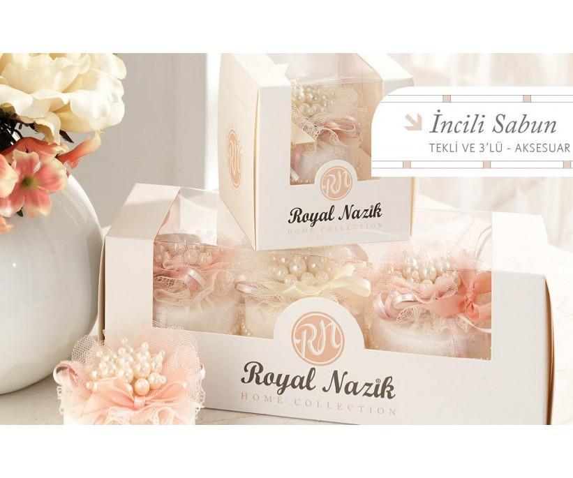 Ароматизированное Цветочное мыло 3 шт - 3lu Incili Sabun - Royal Nazik