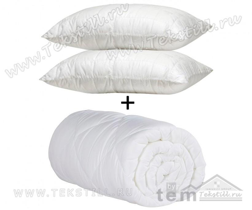 Стеганое Силиконовое Одеяло из Микрофибра 155x215 см + 1 шт Одеяло в Подарок - WALL'S