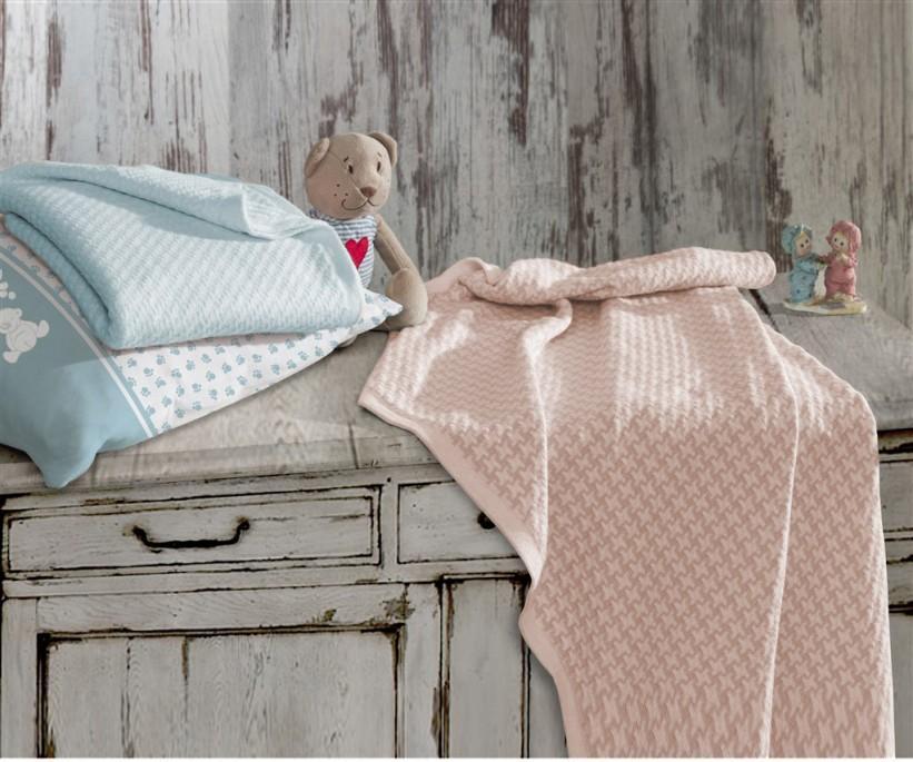 Плед для Новорожденных 80x90 см Вафельный - EcoCotton