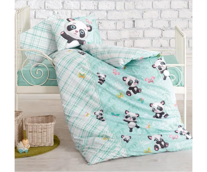 Постельное белье из ранфорса для новорожденных Bebek Ranforce Ucan Dostlar Mavi - cotton box