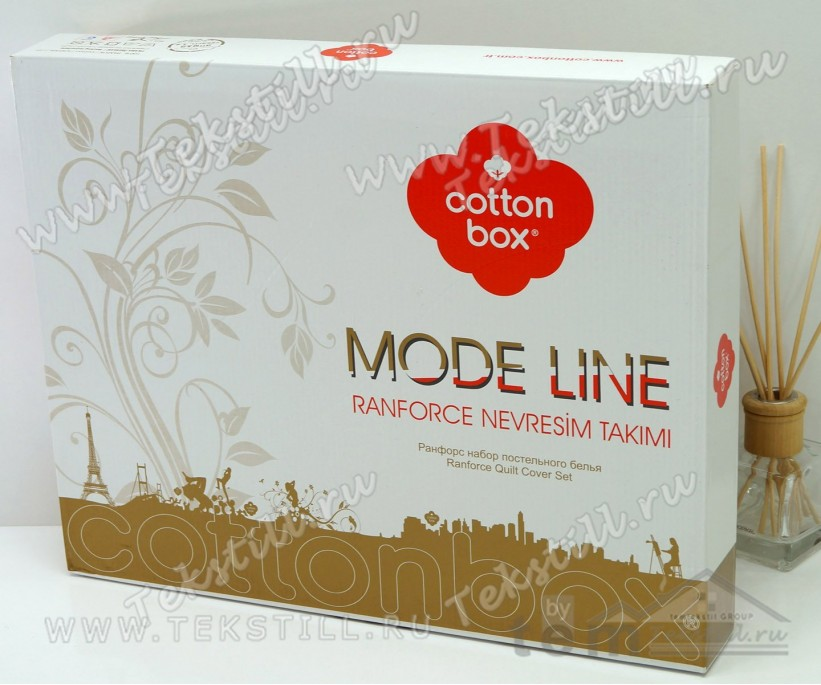 Комплект Постельного Белья 1 сп. Ранфорс MODE LINE Lida Bej - cotton box