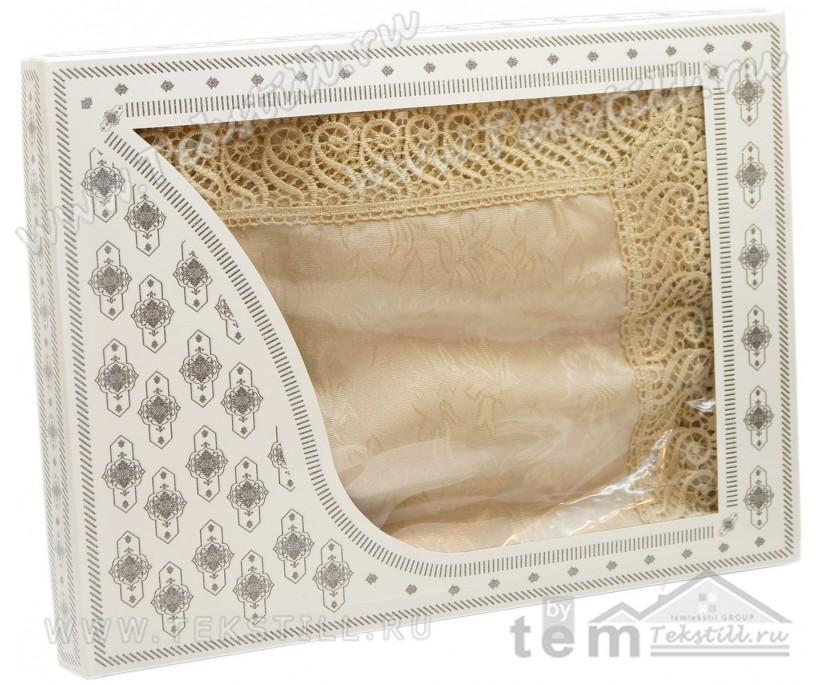 Скатерть КДК с Гипюром в Подарочной Коробке 160x220 см KDK - Zelal