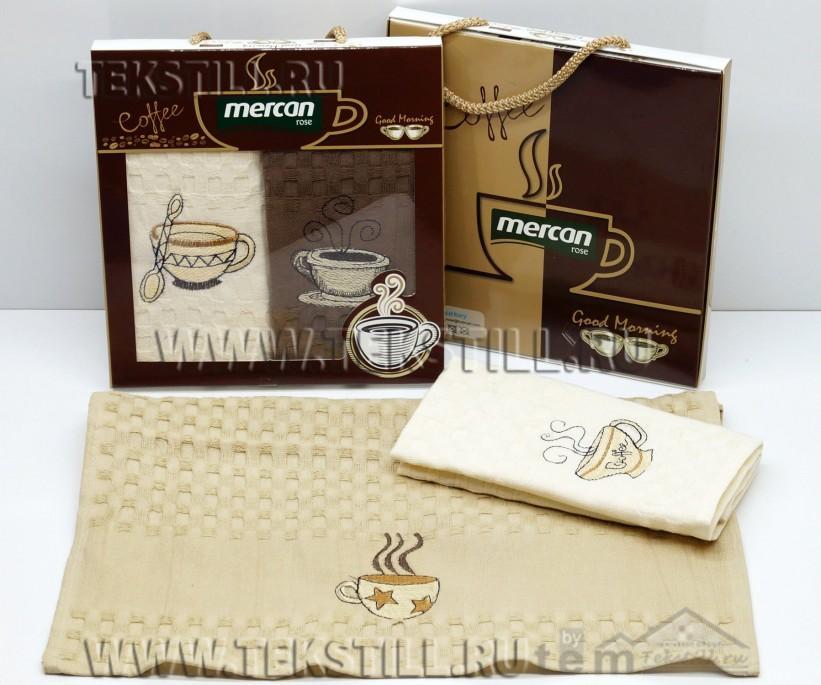 Набор Вафельных Полотенец 40x60 см 2 шт/уп (Рисунки Ассорти) Mercan