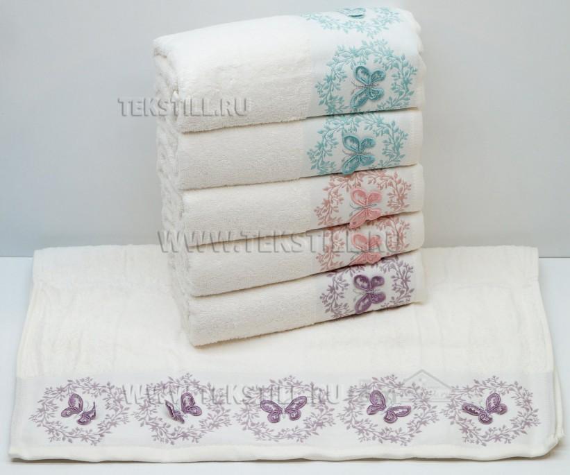 Махровые Лицевые Полотенца с Вышивкой 50x90 см. 6 шт/уп. MERLIN - Soft Kiss