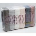 50x90 см. 6 шт/уп Жаккардовые Махровые Лицевые Полотенца ELSA Fakili Decohome