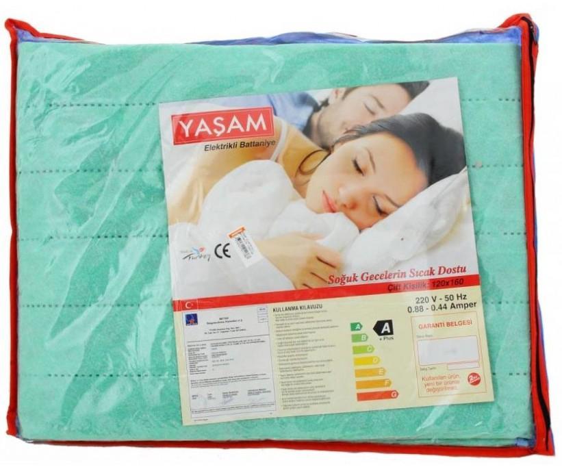 Электропростынь 120x160 см. с регулировкой температуры (расцветки ассорти) YASAM