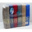 Махровые Жаккардовые Лицевые Полотенца 50x90 см. 12 шт/уп. - TWO DOLPHINS
