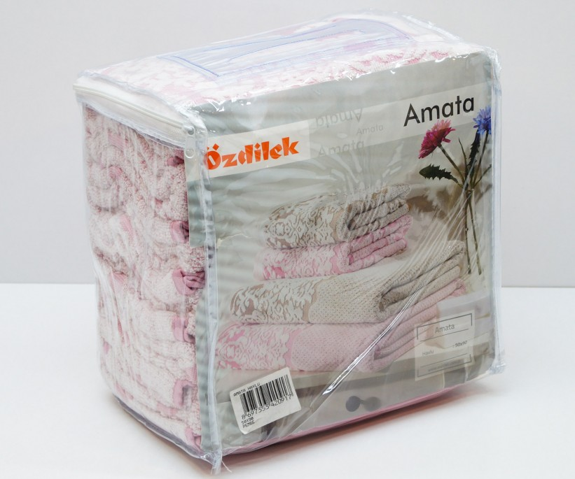 Махровые Банные Полотенца 70x140 см. 6 шт/уп. Amata Ozdilek