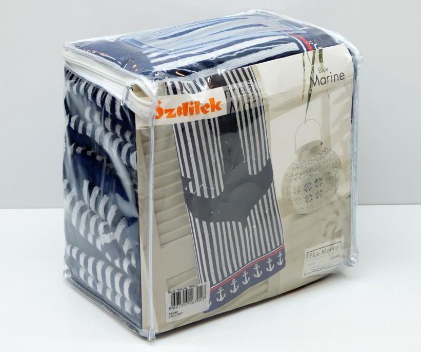 Велюровые Банные Полотенца 70x140 см. 6 шт/уп. BLUE MARINE Ozdilek