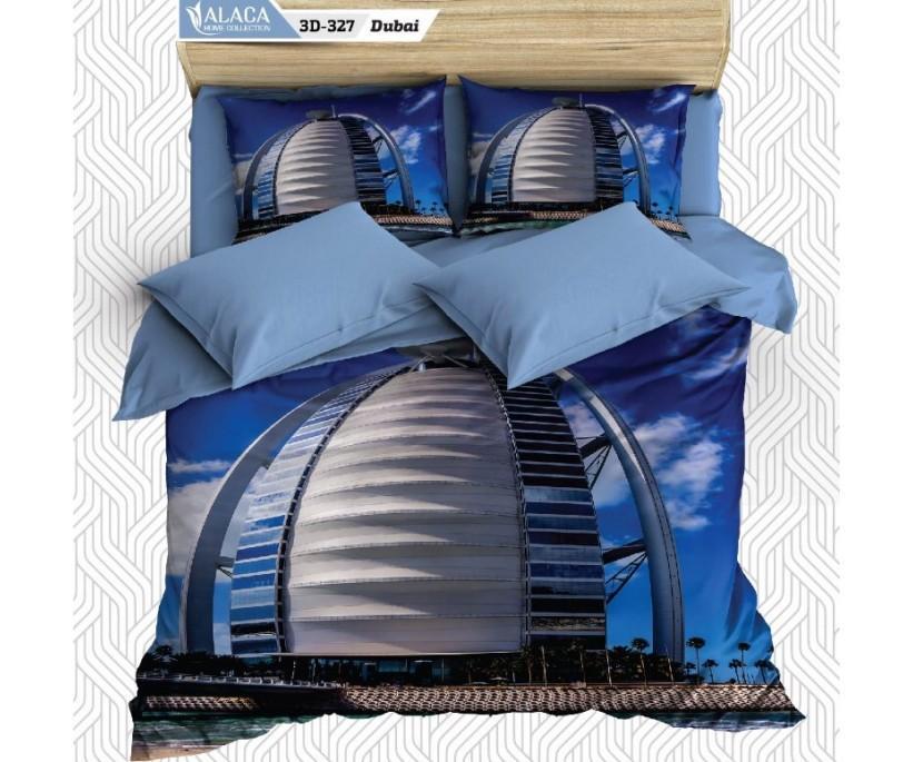 3Д Постельное Белье (2 сп. ЕВРО) 3D ALACA