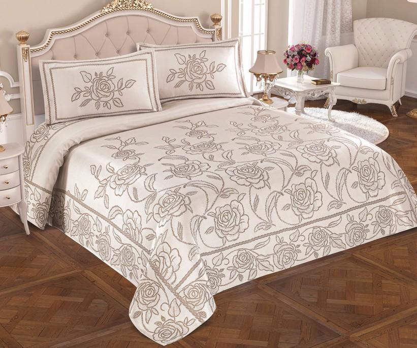 Жаккардовое Покрывало 240x260 см. с 2-мя Наволочками 50x70 см. Exclusive - My Bed